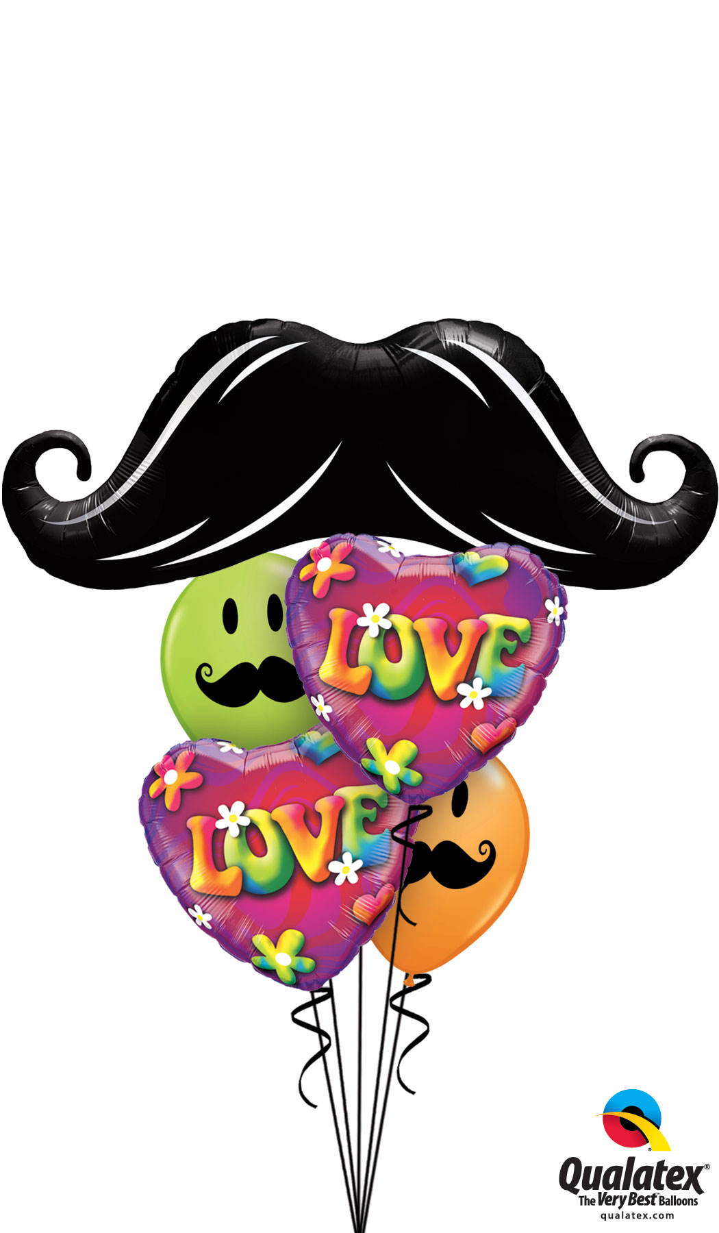 Valentines Day Mustache Bouquet 2014