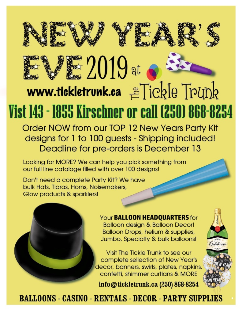 New Years Party Supplies Kelowna
