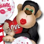 Be My Primate Valentine Balloon Bouquet