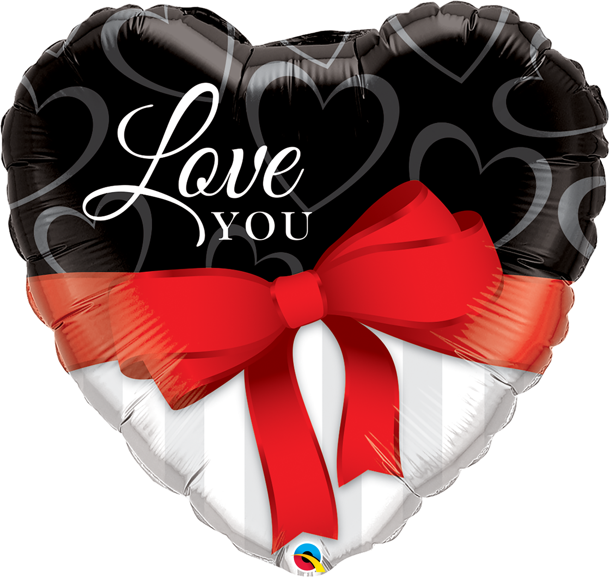 Love You Red Ribbon 36 Inch Heart Shape 21656 A30 - Copy