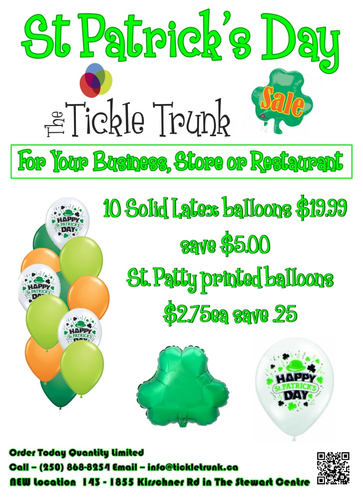 St Patricks Day Balloon Specials