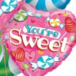 Valentines day balloons you are sweet