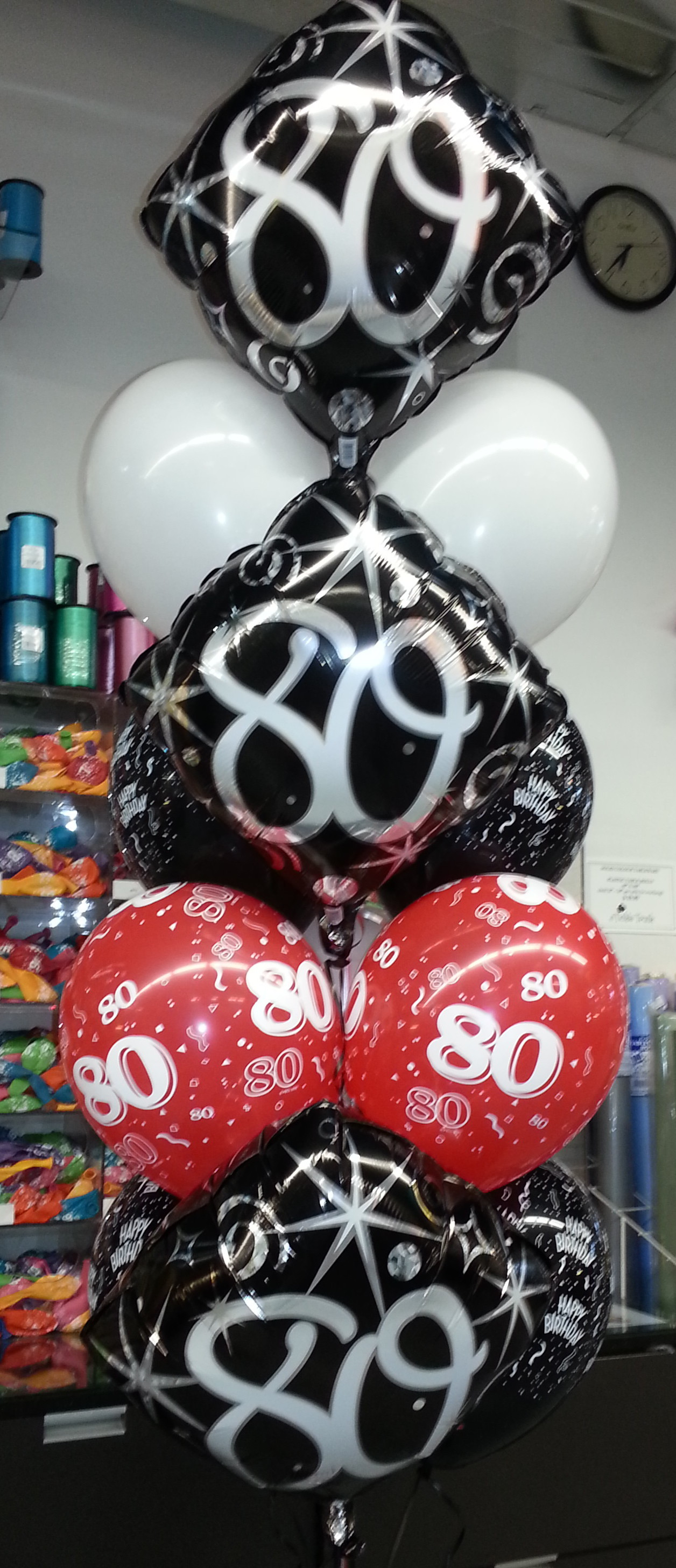80th-birthday-balloon-bouquet
