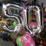 jumbo-50th Birthday-balloon-bouquet-retro-with-balloon-pkg-weight