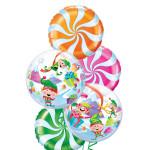 Christmas Balloon Candy Bouquet