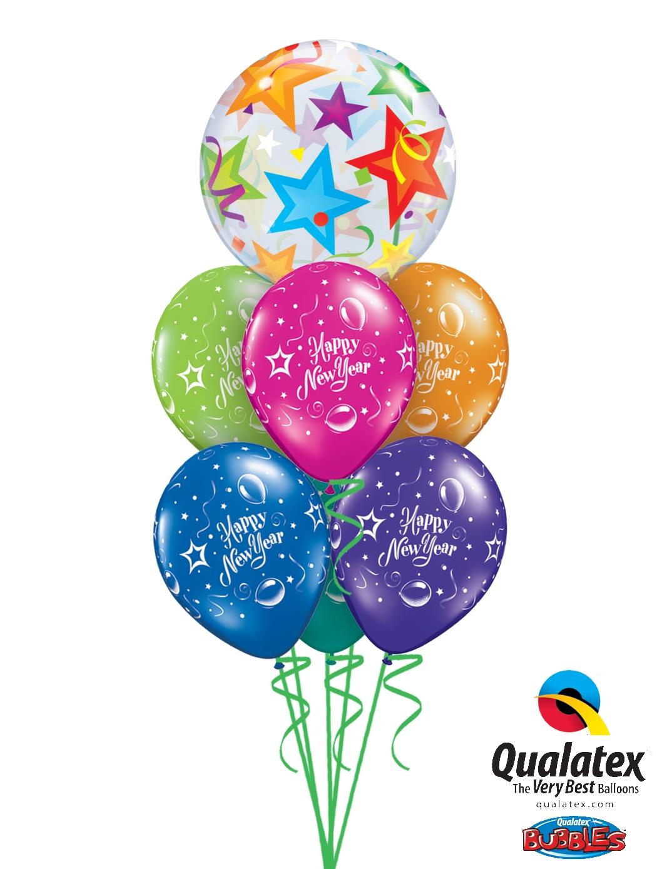 Brilliant Stars New Years Balloon
