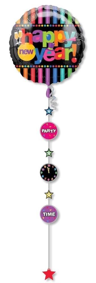 "36"" Happy New Year Jumbo Balloon Stringer"