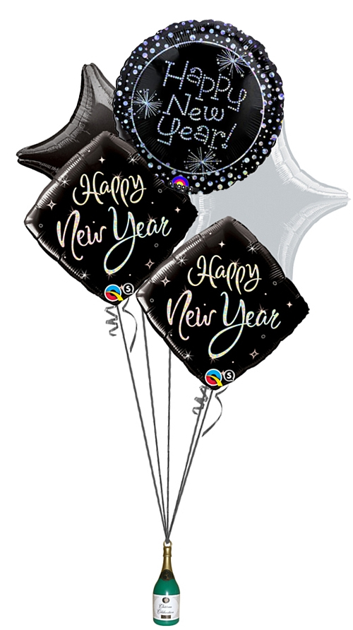 Happy New Year Glitz Balloon Bouquet