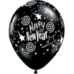 Happy New Year Sworl Balloon