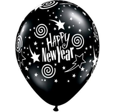 Happy New Year Sworl Balloon