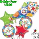 BIRTHDAY FEVER HORN BALLOON BOUQUET