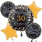 Sparkling-birthday-personalized Balloon Bouquet 37157