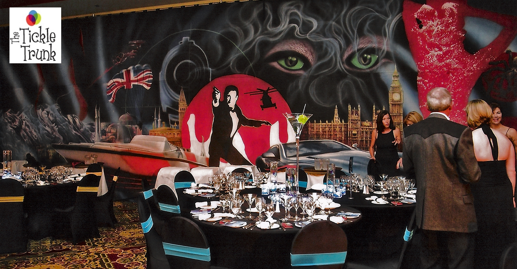 James Bond Casino Mural Décor rental