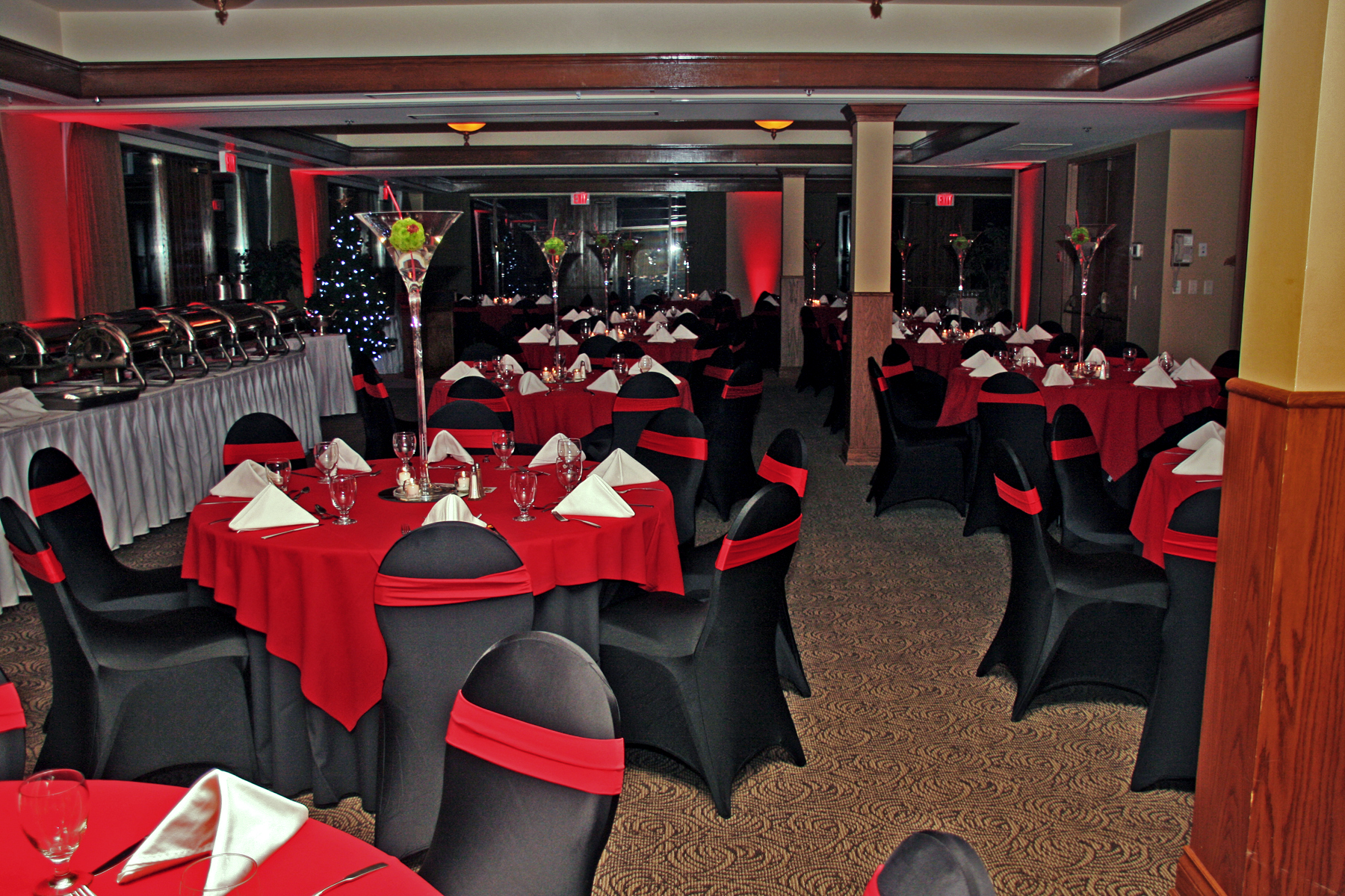 Casino Black & Red Decor rental