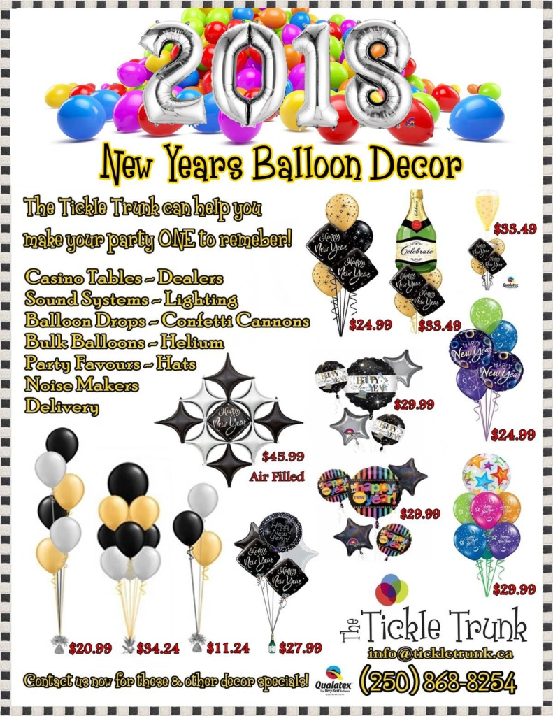 New Years Balloon Decor 2018
