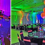 NEON BALLOON DECORATION AND CENTREPIECE