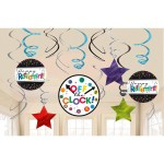 Officially Retired Value Pack Foil Swirl Decorations 671552