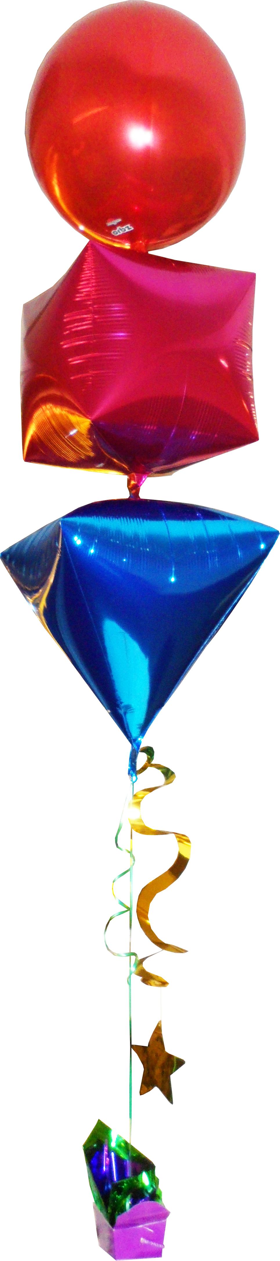 Orbz Diamond Cube Balloon Bouquet