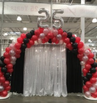 Costco Kelowna 25Th Anniversary Balloon Arch