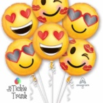EMOTICON-LOVE-6-18-INCH-BALLOON-BOUQUET-36950