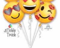 Emoticon Love 6 - 18 Inch Balloon Bouquet 36950 Lr