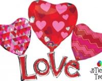 Multi-Balloon Floating Love Shape Balloon 31861 Lr