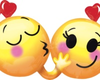 Emoticons-In-Love Balloon 36 W X 21 H 34158